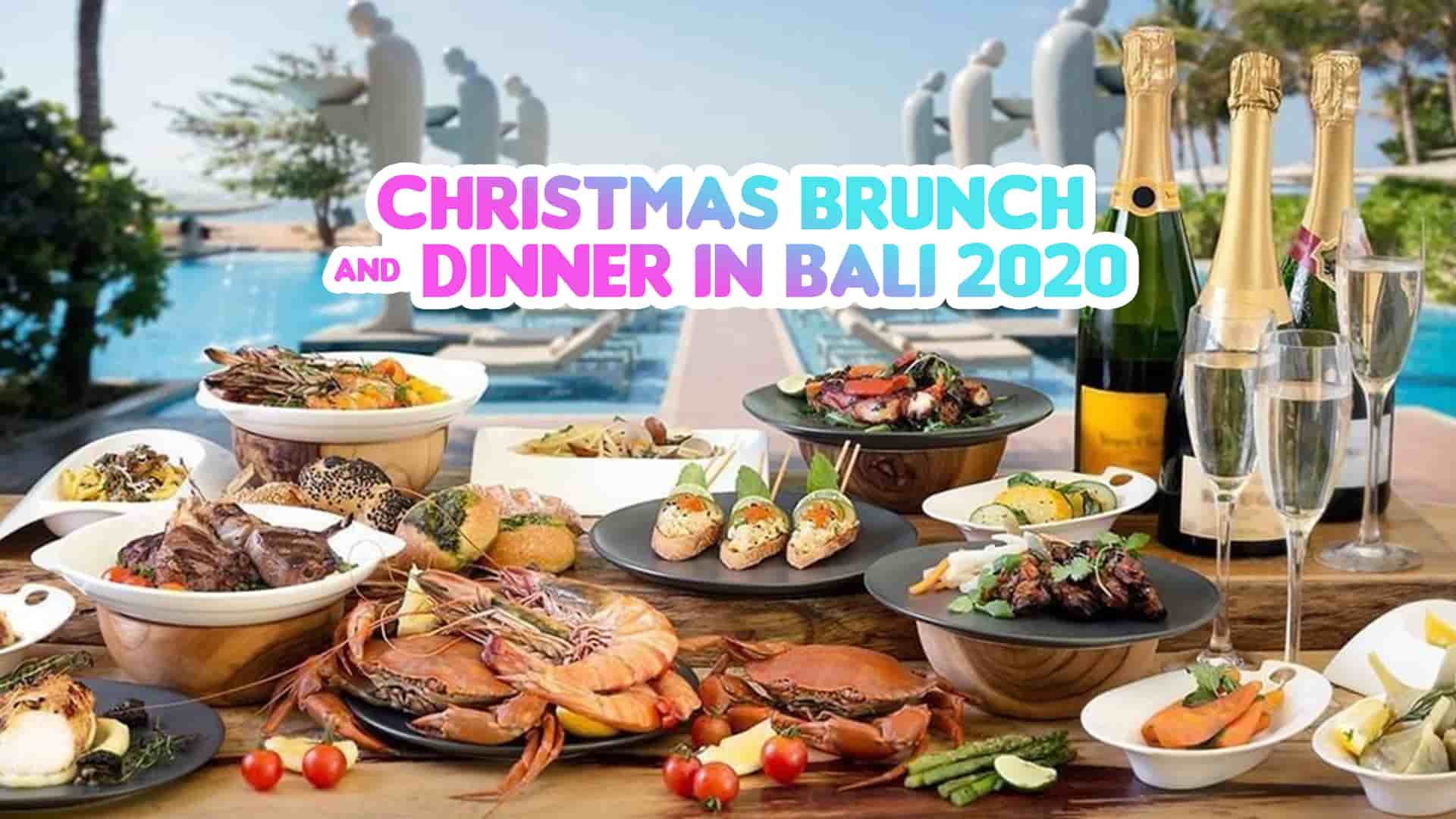 christmas brunch and dinner in Bali 2020